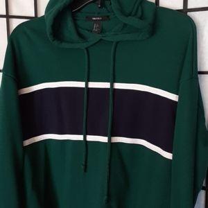 Forever 21 green sweatshirt